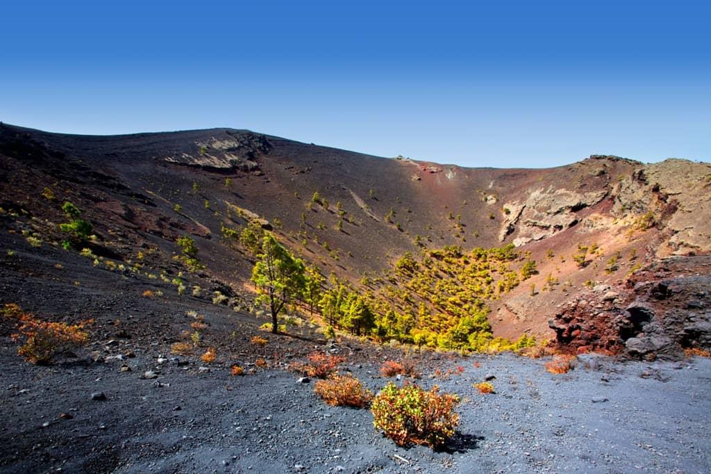 Crater La Palma San Antonio volcano Fuencaliente